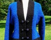 Knitting Pattern-Alpaca Boucle Kimono Jacket & Purse, knit alpaca jacket pattern, striped women jacket pattern, alpaca boucle, PDF pattern