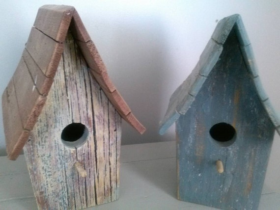 Pair of primitive handmade whimsical rustic by ...