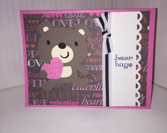 Bear Hugs Pun Valentines Card