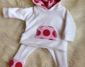 Marshmallow Strawberry Cream Sweat Suit