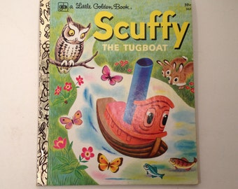 SCUFFY The Tugboat A Little Golden Book 1978 59 cents Great Condition