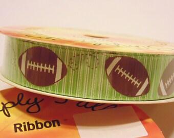 9 feet football ribbon, 5 / 8 inch wide (A16)