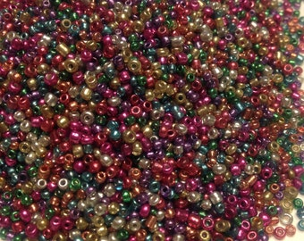 10 g packages of mixed metallic seed beads, 11/0 (SB1)