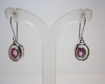 Madagascar Pink Sapphire Earrings