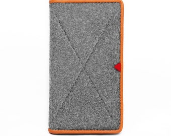 Phone Case iPod Case Wool Felt iPhone Sleeve for iPhone6/6s Card Case Purse Handbag Earphone Holder Leather