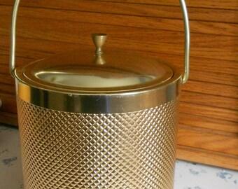 Goldtone Italian Ice Bucket