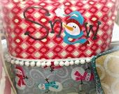 Ready-to-Ship Snowman Pillow