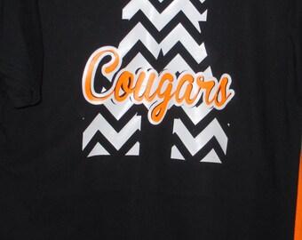 Chevron Initial Team spirit T-shirt