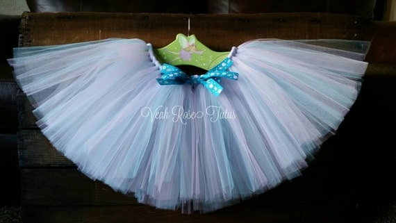 light pink and light blue tutu skirt with by