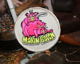 Vintage Makin Bacon Patch