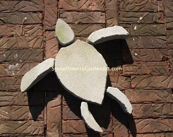 Stone Flowers Garden Art Hand Chipped Sandstone Turtle
