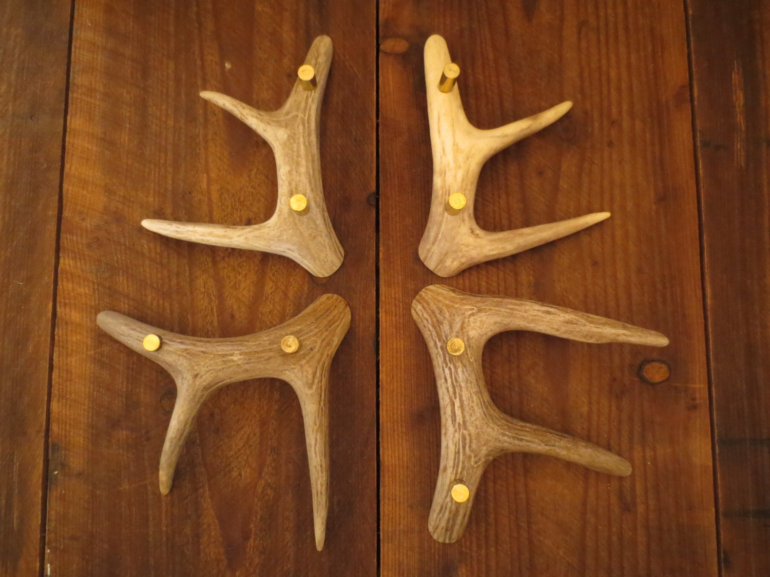 Quality 3 Tine Handles Whitetail Deer Antler Cabinet Doors