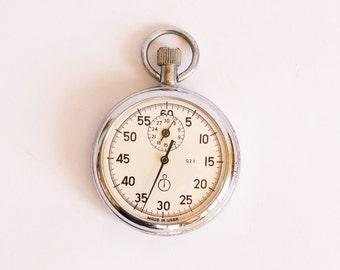 Vintage Stop Watch Russian Chronometer Agat Soviet Union Era