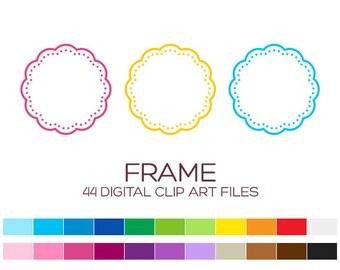 Digital Frame Clipart Digital Frames and Borders Label Clipart Digital Labels For Jars Frames Vintage Wedding Clipart Doodle Frames - A00081