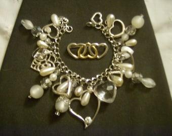 Floating Away on Love OOAK Charm Bracelet by Kay Creatives