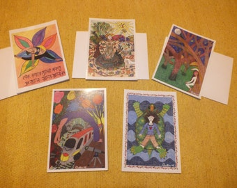 Yoga Greeting Cards (5 card pack, series 1)