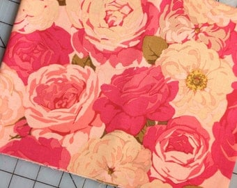 Martha Negley - Rose Garden - FAT QUARTER cut of Packed Rose in Natural