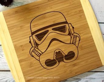 STORM TROOPER , storm trooper helmet cutting board , darth vader , man cave gift , unique mens gift , valentines day gift