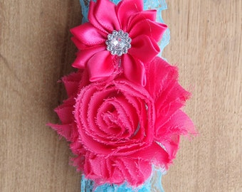 Blue wedding garter, rose garter, blue toss garter, something blue, blue bridal garters, lace garter, keepsake garter rose, elegant garter