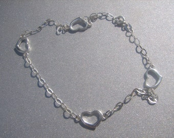 JCM 925 Heart Link Ankle Bracelet 762.
