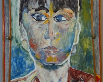 Joan Ross Bloedel Mixed Media self Portrait