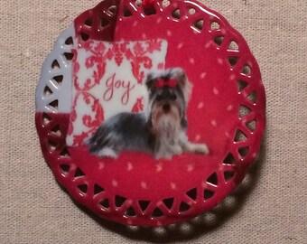 Yorkie Joy Ornament