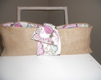 Burlap and Fabric Bottle Carrier