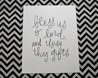 "prayer inspiration {bless us, o lord} 8x10"" art print"