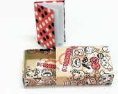 MINI MATCHBOX i love kawaii colorful and NOTEBOOK minibook mini scrapbook sheets white paper with heart