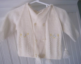 Vintage hooded baby sweater by Friemanit