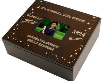 Engraved Graduation Keepsake Box
