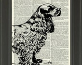 55% OFF EVERYTHING Vintage Dictionary Page Print - Cocker Spaniel - No.463D - Dictionary Art Print - Buy 2 Get 1 Free - Upcycled Page - Home