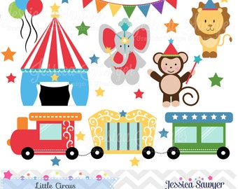 INSTANT DOWNLOAD, Circus Clipart,  train clip art, for personal use, commercial use, party supply, scrapbooking