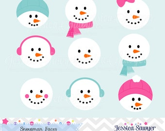 INSTANT DOWNLOAD, Snowman Clipart, Winter vector clipart, for commercial and personal use