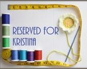 Reserved for Kristina