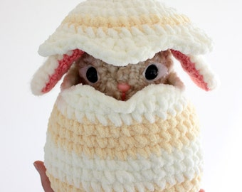 Bundle PATTERN Instant Download Pearls the Bunny in an Egg Easter Gift Crochet Amigurumi Rabbit