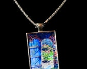 "Fine Art  Pendant  ""Through the Garden Door"""
