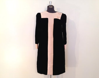 Vintage Velvet Dress / Small/Med / Hannah Troy