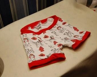 Little boys boxer briefs, boys firefighter dalmatian underwear, little boy boxers, red boxer briefs