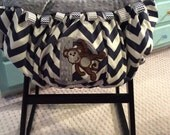 Chevron Monkey Shopping Cart and High Chair cover