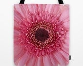 Pink Gerbera Daisy, Photo Tote Bag, Tote Bag, Reusable Bag, Flower, Floral