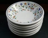 Shenango China, restaurant ware, vintage floral bowls set of 6