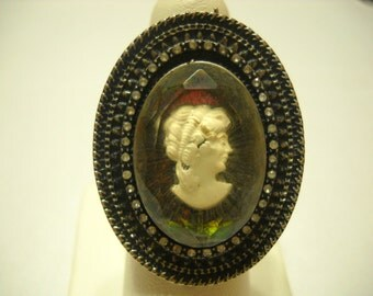 Vintage Large Cameo Ring (9613BH) Size 8