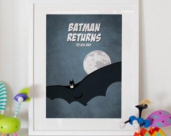 "Batman Returns - Home Decor Kids Poster 11x17"" or A3"