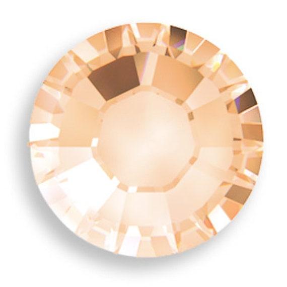 Light Peach Swarovski Crystal Flatback x65 pieces Rhinestones Hotfix ss12 3mm gemstones 2028 Iron on Bling