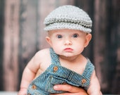 Baby Boy Hat 0 to 3 Month Gray Irish Donegal Cap Irish Hat Golf Hat Driving Cap Donegal Hat Baby Boy Clothes Photo Prop Dapper Gentleman