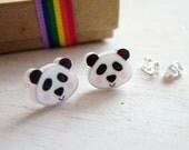 Panda Kawaii Acrylic Stud Earrings