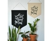"Handmade Pommel Co ""Well Shit, At Least You Tried"" Hanging Wall Banner - Handmade Hanging Wall Banner - Hanging Wall Pendant"