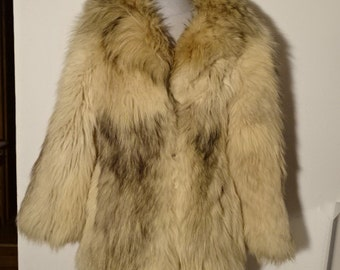 Genuine white fox fur