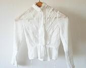 White Antique Blouse French Edwardian